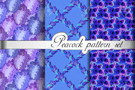 blue pattern background html feathers seamless patterns background set peacock decorative