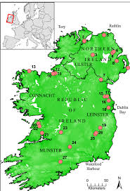 Map Of Colorado Rivers by Map Of Ireland Showing Topography Major Lakes And Rivers The