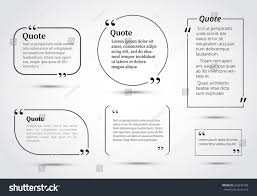 quote bubbles template circle rectangle quotes stock vector