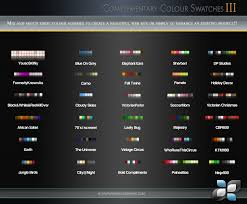 complementary colour swatches by digitalphenom on deviantart