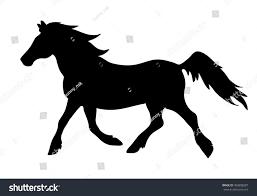 mustang horse silhouette vector running horse silhouette stock vector 403898287 shutterstock