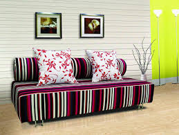 art deco living room decoration with charming corner sofa bed
