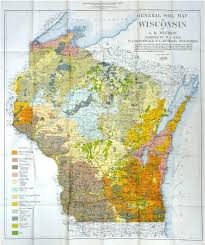 Wisconsin Counties Map by Soil Map Of Wisconsin Compiled By Whitson 1927 Legend In