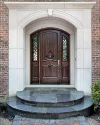 Home Entrance Decorating Ideas Decorations Elegant Dark Wooden Door Combined With White Wall
