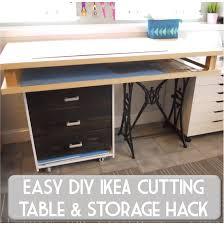diy craft table ikea sew at home mummy diy fabric cutting and craft table ikea rast hack