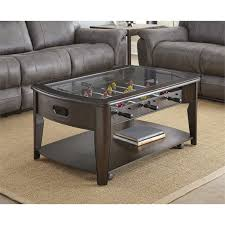 steve silver coffee table steve silver diletta foosball game coffee table with casters in
