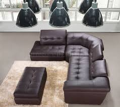 Modern Leather Sectional Sofa Chocolate Or Beige Italian Leather Modern Sectional Sofa