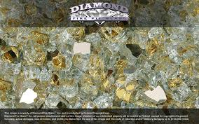 Fire Pit Crystals - 24k gold reflective nugget diamond fire pit glass 25 lb nugget
