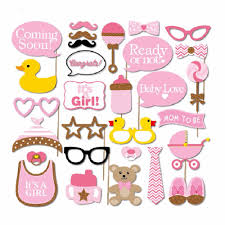 cheap baby shower photo booth props free shipping baby shower
