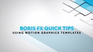 tutorial using motion graphics templates in adobe after effects