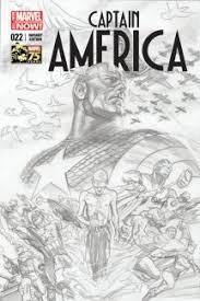captain america 2012 22 ross 75th anniversary sketch variant