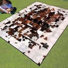 Cow Area Rug New Cowhide Rug Large Cow Hide Skin Leather Bull Carpet Animal