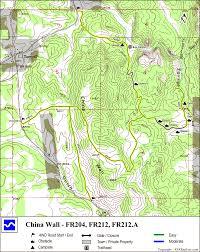 China Camp Trail Map by 4x4explore Com China Wall