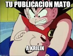 Krillin Meme - tu publicacion mato krillin meme on memegen