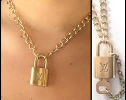 lock necklace images Lock necklace etsy jpg