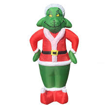 Holiday Blow Up Decorations Amazon Com 7 Foot Inflatable Christmas Airblown Yard Christmas