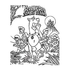 20 zombie coloring pages kids