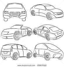hand drawn car vehicle scribble sketch stock vector 362862086