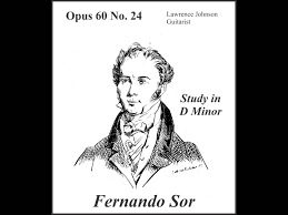 fernando sor op 60 no 24 study in d minor youtube