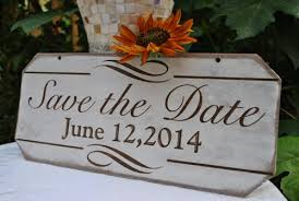 save the date signs save the date engagement sign rustic laser etched photography