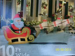 10 Ft Wide Santas Sleigh Taking f Airblown Inflatable with 3
