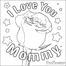 rose coloring pages kids proflowers blog