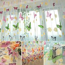 200 100cm summer style plum flower curtains for living room window
