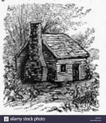 log cabin drawings log cabin drawing stock photo 163230502 alamy