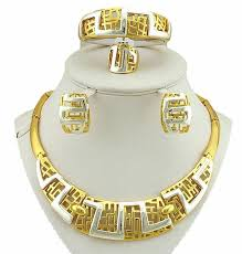 big gold necklace set images 24k gold jewelry sets bridal jewelry set african big jewelry sets jpg