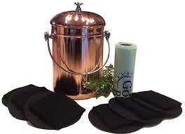 kitchen compost pail bin for countertop leakproof food scrap