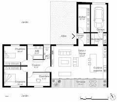 plan chambre plan maison 4 chambre plain pied beautiful de maison en l avec