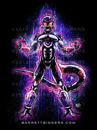 frieza dragon ball inspired art barrett biggers