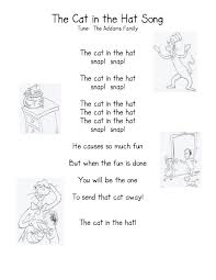 thanksgiving kindergarten songs the cat in the hat kindergarten nana