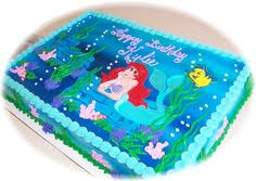 ariel cake minus the pink frosting around different color
