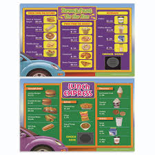 drive thru menu math set of 12 extra beginner menus