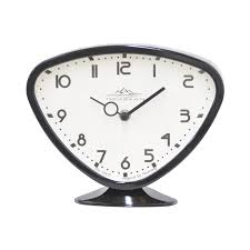 futuristic black table clock modern furniture store haammss