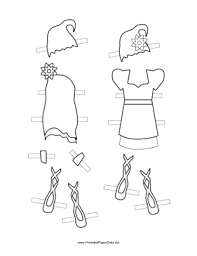 free printable fairy paper doll hats