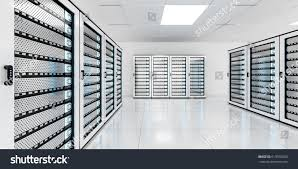 white server room data center storage stock illustration 619910963