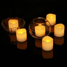 2 wax led flameless candles power by battery pack