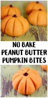 halloween cookbook easy halloween recipe no bake peanut butter pumpkin bites not