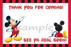 mickey mouse thank you cards mickey mouse clubhouse thank you card partyexpressinvitations