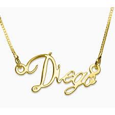 gold name necklace writing name necklace 18k gold plating envyher