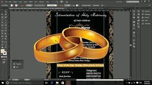 illustrator how to create a wedding invitation card in adobe