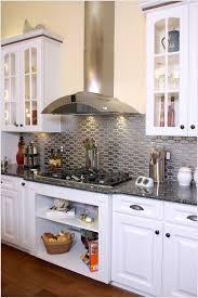 inspiring kitchen interior design with stainless steel backsplash