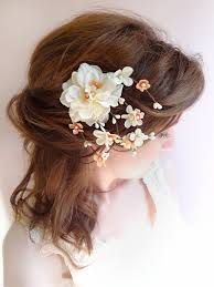 floral hair accessories wedding hair clip bridal flower headpiece ivory bridal