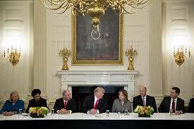 donald trump economic advisors pepsi disney ceos in seat