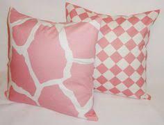 Nursery Decorative Pillows Pillow Pink Green Pillows Baby Nursery Giraffes Decorative