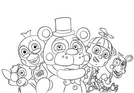 nights freddy u0027s characters coloring free
