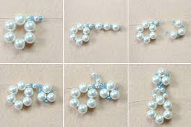 how to make a beaded snowflake ornament 7 steps