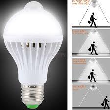 light bulbs with sensors low energy led pir motion sensor auto energy saving light l bulb infrared 5w